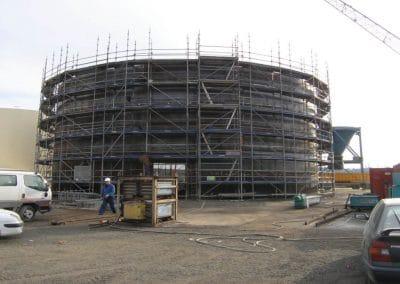 Construction de silos métalliques de stockage