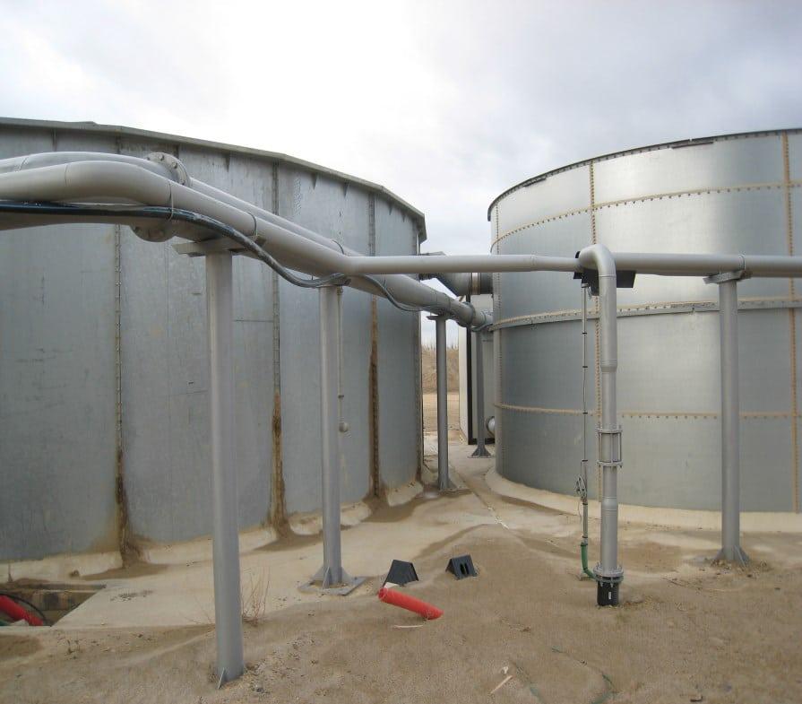 Fabrication et montage du réseau d'eau d'une carrière